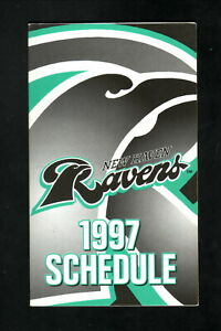 New Haven Ravens--1997 Pocket Schedule--SNET--Rockies Affiliate