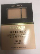 Revlon Age Defying Makeup & Concealer Compact IVORY BEIGE NEW.