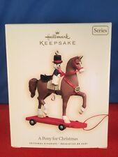 2008 Hallmark Ornament A PONY FOR CHRISTMAS #11 in Series MIB Teddy Bear on Pony