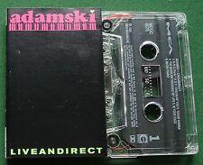 Adamski Liveandirect inc In Your Face & Into Orbit + Cassette Tape - TESTED