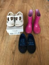 Girls Shoes Bundle Size Infant 6 Clarks Pink Wellingtons White Shoes