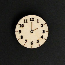 10 Wooden Clock Face Craft Shapes Blank Embellishments - choose time shown