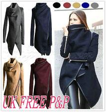 UK Womens Overcoat Trench Slim Winter Warm Coat Long Wool Jacket Outwear Parka