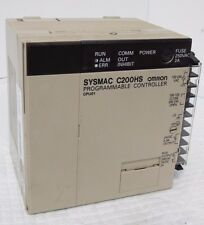 OMRON C200HS-CPU01 SYSMAC PROGRAMMABLE CONTROLLER