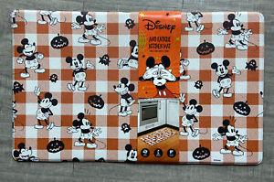 Disney Mickey Mouse Anti-Fatigue Kitchen Mat Halloween Pumpkin Plaid 18 x 30 New