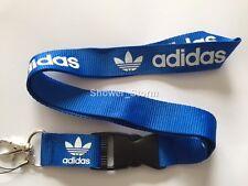 Blue White Adidas Originals Lanyard NEW UK Seller Keyring ID Holder Strap