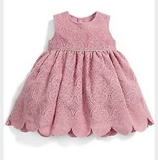 Mamas & Papas Baby Girls Pink Lace Dress 3-6 Months Up To 18lb New RRP £44