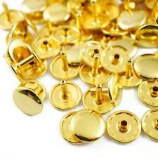 100 set 15*12mm Gold Double Cap Round Rapid Rivet Punk Rock Leathercraft Rivet