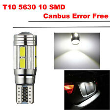 1PCS T10 10SMD 501 W5W White Car LED Auto Side Wedge Light Interior Parking Lamp