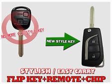 Toyota Prado120/RAV4/Kluger/Tarago Avensis Flip Remote Chip Key Transmitter FOB