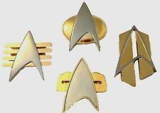 Star Trek Movie Set of (4) Full Size Communicator Metal Pins By Hollywood Pins