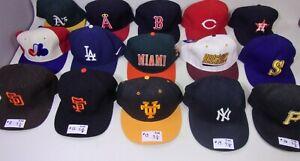 MLB NCAA Team Baseball Caps Hats Fitted Snapback Used Vintage Hats