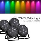 4pcs 7x10W Stage Par Light RGBW 4in1 LED DMX PAR56 Washer Lighting DJ Party New