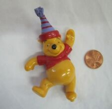 "WINNIE THE POOH BEAR 3.5"" Cake Topper Figure 100 Acre Woods Standing Disney Fun!"
