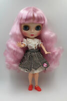 """12"""" Blythe Doll from factory Nude Long Pink curly hair SJ09 + Neemo Jointed Body"""