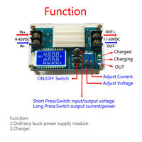 DC-DC 10-50V 5A Power Supply Module Adjustable Boost CVCC Converter  LCD Display