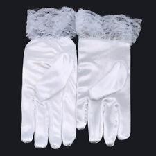 Holy Communion Gloves Kids Girls Wedding Diamante Cross Bowtie Gloves Mittens C
