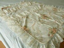 """Vtg St Michael M&S 4"""" Lace Florals & Scrolls 3 x Pillowcases"""