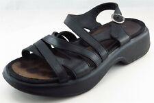 Dansko Strappy Black Leather Women Shoes Size 39 Medium (B, M)