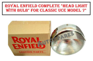 """Royal Enfield Complete """"Head Light with Bulb"""" Classic UCE Model 7"""""""
