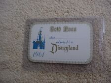 DISNEYLAND GOLD PASS  1961 TICKET --UNUSED ---NEARLY- ONE-OF-A-KIND  -- *3
