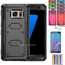 Case For Samsung Galaxy Note 5 Shockproof Cover Tempered Glass Screen Protector