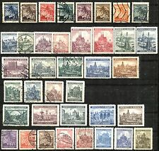 CZECHOSLOVAKIA BOHEMIA AND MORAVIA Stamps 1939-41 Postage Collection SC# 20-53C