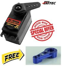 Hitec HS-7954SH High-Voltage Ultra-Torque Dual Servo + Blue Aluminum Horn