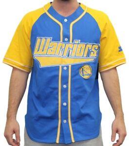 """Golden State Warriors Starter NBA Men's """"Double Play"""" Baseball Jersey"""