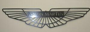 LARGE * Aston Martin Car Logo Metal Sign Hand Finished Vintage Car Wall Art