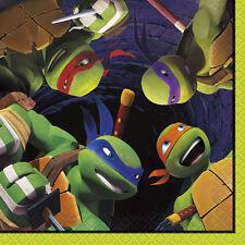 TMNT Teenage Mutant Ninja Turtles Beverage Napkins Serviettes (Pack of 16)