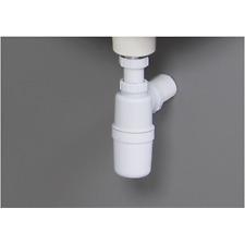 G DOC M 32MM PLASTIC BOTTLE TRAP - WHITE BATHROOM BASIN SINK