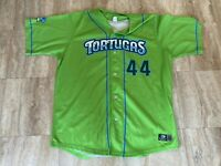#44 Daytona Tortugas Game Used Worn Green Copa Jersey MLB MILB Reds