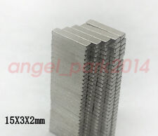 50-200pcs 15mm x 3mm x 2mm Strong Bar Block Magnets Rare Earth Neodymium N50