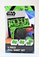 Star Wars Rouge One 4 Piece Full Sheet Set- NEW!!