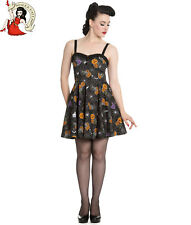 Hell Bunny Harlow Mini Dress Halloween Pumpkin Spider Black
