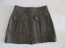 VINTAGE ABERCROMBIE & FITCH ARMY GREEN WOOL SKIRT SIZE S