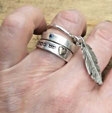 FEATHER RING UK Sterling Silver 925 HAND MADE UNIQUE LONDON DESIGNER Luxury size