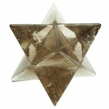 Smoky Quartz Stone 8 Point Merkaba Spiritual Sacred Star Reiki Healing Gemstone