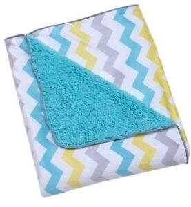 Comfy Two Sided Uni Printed Velboa Baby Nursery Blanket Soft