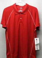 """New Us Kids Boys red polyester golf polo shirt Xl 63"""" Tall"""