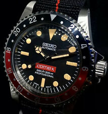 Seiko Mod Coke Submariner Diver Vintage Comex Rolex 5514 5517 NH35 Automatic
