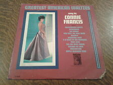 33 tours greatest american waltzes sung by connie francis