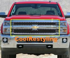 Chevy Silverado 2500HD/3500HD 2015~16 Black Wire Mesh Rivet Studs Grille Insert