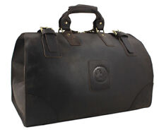 Vintage Men Real Leather Travel Bag Tote Luggage Bag  Large weekend bag Duffel