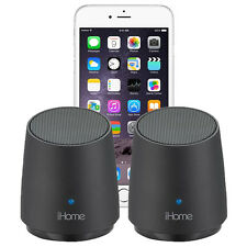 iHome iHM89 Rechargeable Mini Speakers f/ All Apple iPhone 6 5s 5c 5 4s 4 3Gs 3G