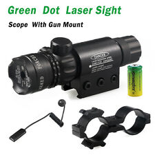 Hunting Tactical Green Dot Laser Sight Rifle Gun Scope Rail + Remote Switch USA