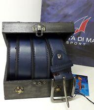 Cintura uomo ARMATA DI MARE colore blu misura 125 con scatola regalo in legno