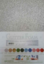 10 FOGLI di foam glitterato A4 silver spessore 1,7 mm MOOSGUMMI per fiori Foa...