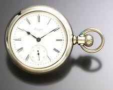 Antique Elgin Pocket Watch with Single Sunk Porcelain Dial C. 1897